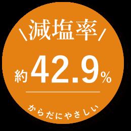 減塩率42.9%
